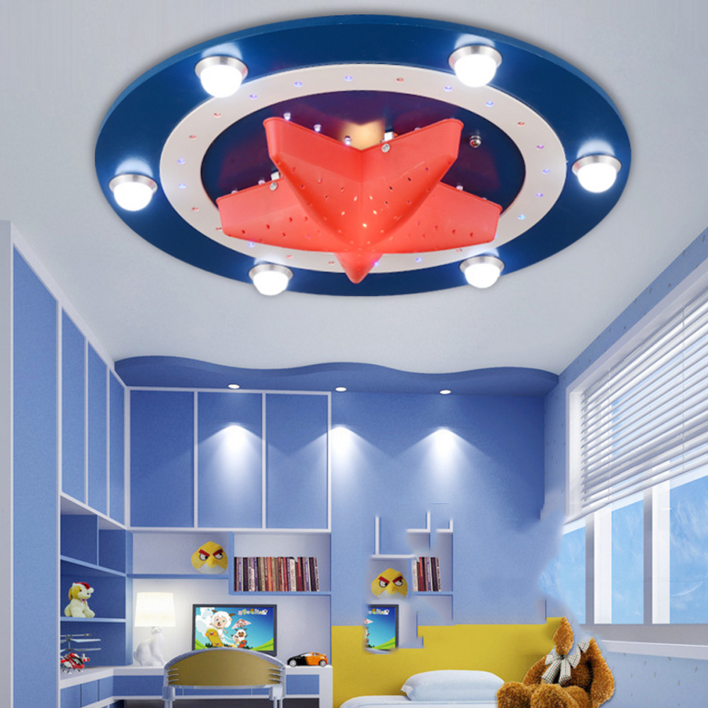 Beautiful Kidu0027s Room Lighting Captain America Ceiling Lights Child Bedroom Cartoon  6LED*3Wu002624LED*0.3W For Living Room Home Decoration Lamp In Ceiling Lights  From ...