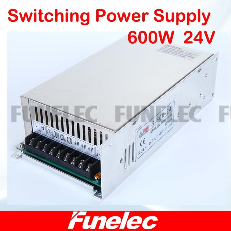 single output power supply 24v 25A 600w switching power supply for led strip light AC110V 220V to dcled driver free shipping 35w 24v 1 5a single output mini size switching power supply for led strip light ms 35 24