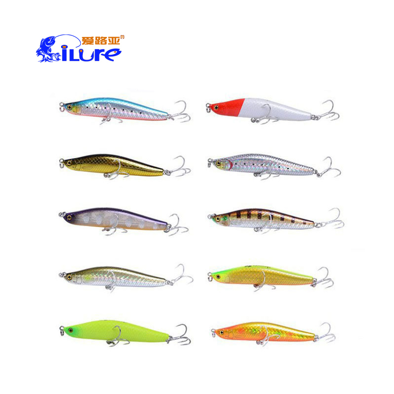 iLure 80mm/15g  95mm/25g  Sinking Pencil Fishing Lure Minnow Artificial Bait New Pesca Wobbler Sea Bass Lures Fishing Tackles