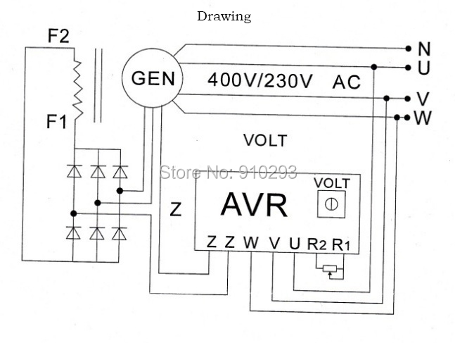 generator avr wiring diagram wiring diagram rh blaknwyt co portable generator avr circuit diagram ac generator avr circuit diagram