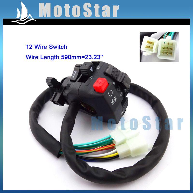 Chinese ATV Handlebar Main Starter Switch 125cc 110cc with Choke Lever Headlight