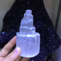 Spiritural purification stone natural selenite wand reiki healing crystals tower mineral raw gem meditation for home decoration