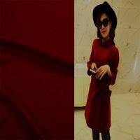 Free Shipping Wine Red Wool Woolen Wool Fabric Autumn And Winter It Coat Coat Skirt Clothing