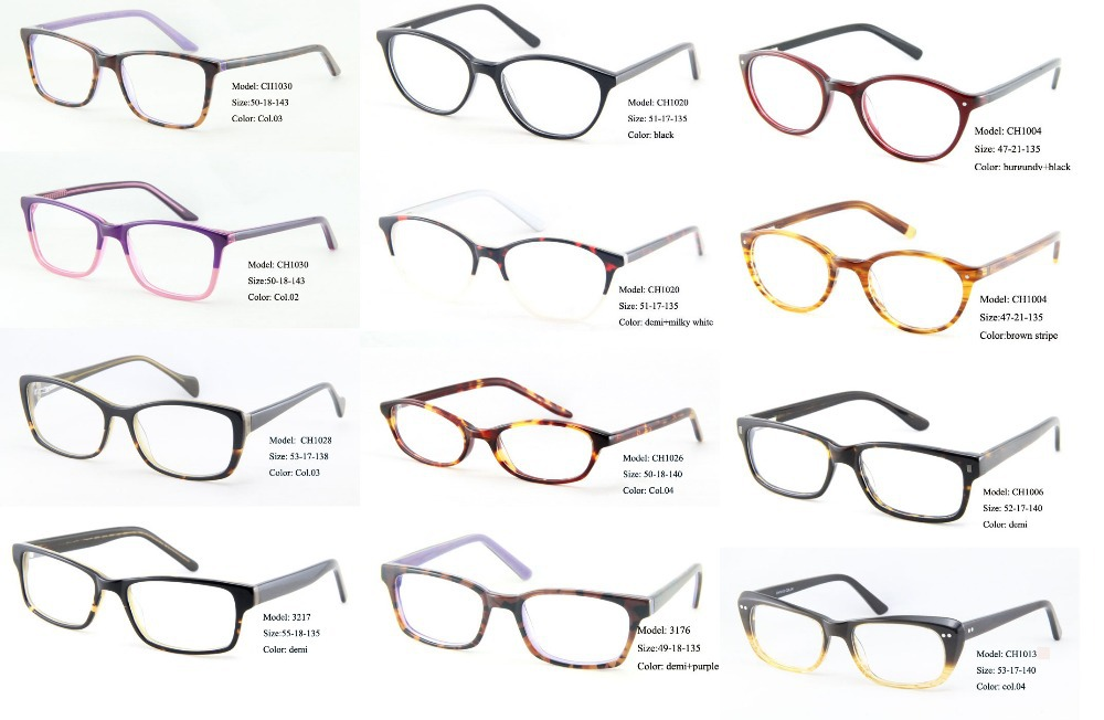 Eyeglass Frame Style Names : Gallery For > Types Of Eyeglasses