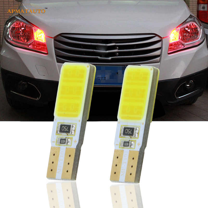 2x T10 For SAMSUNG COB Chips LED Side Parking Lights Marker Lamps Bulb For Suzuki Auto Swift Vitara SX4 Kizashi Wagon Jimny