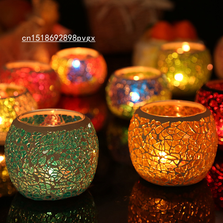Handmade Candle Stand Designs : Handmade mosaic glass candle holder tea light stand