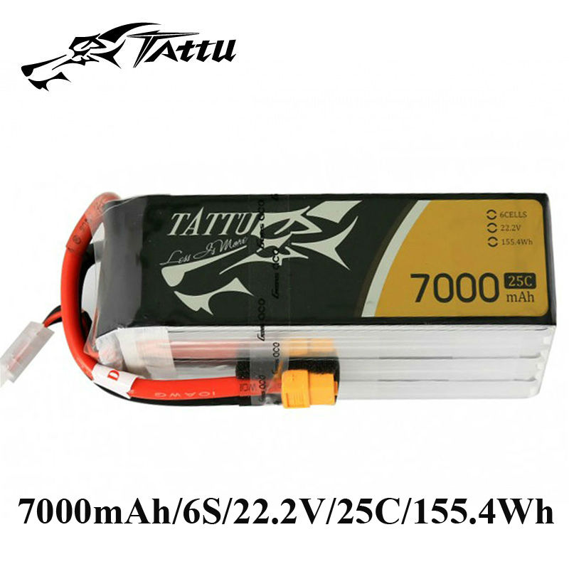 TATTU Lipo Battery 22 2V 7000mAh Batteries Lipo 6s XT90 Plug XT60 Plug 25c RC Battery