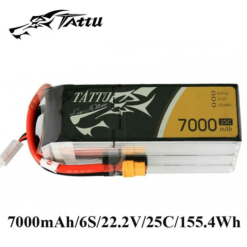 TATTU Lipo Battery 22.2V 7000mAh Batteries Lipo 6s XT90 Plug XT60 Plug 25c RC Battery for RC Quadcopter RC UAV FPV Drones цена и фото