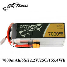 TATTU Lipo Battery 22.2V 7000mAh Batteries Lipo 6s XT90 Plug XT60 Plug 25c RC Battery for RC Quadcopter RC UAV FPV Drones