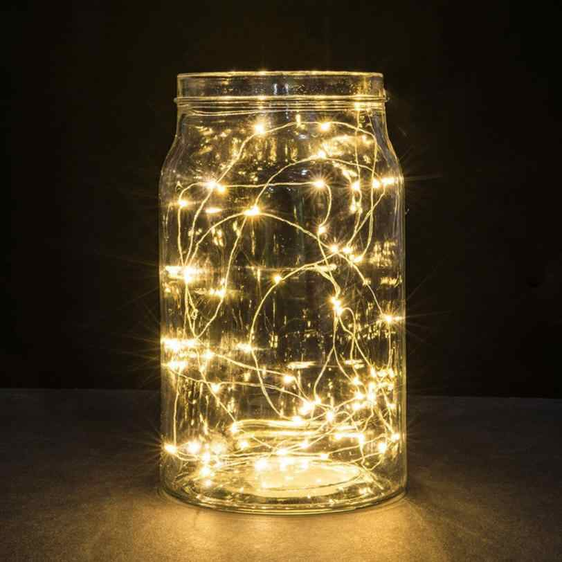1M String Fairy Bottle Light 10 LED Battery Operated Xmas Party Holiday DIY Lights Wedding Decoration Party Bottle Table Lamp