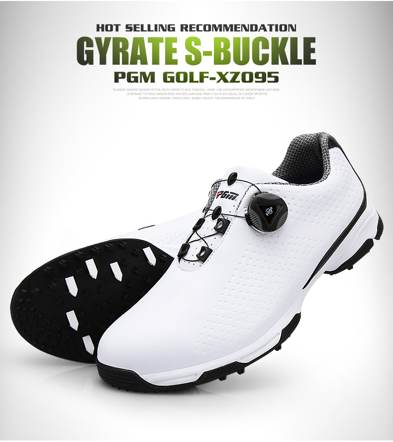 2018 New PGM  Mens Golf Shoes Summer Waterproof  Anti Skid Rotating Shoes Buttons Sports Shoes For Male Size 39-452018 New PGM  Mens Golf Shoes Summer Waterproof  Anti Skid Rotating Shoes Buttons Sports Shoes For Male Size 39-45