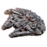 05132 UCS Ultimate Collectors Star Series Millennium Falcon Model Classic Movie Toy Compatible Legoing 75192 Starwar Gift