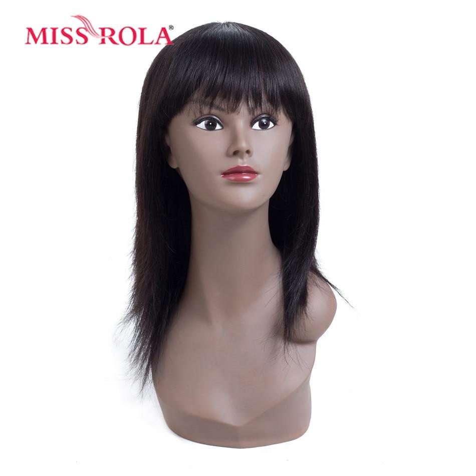Miss Rola Hair Brazilian Hair # 4 Straight 10 Inches მოკლე - ადამიანის თმის (შავი) - ფოტო 3