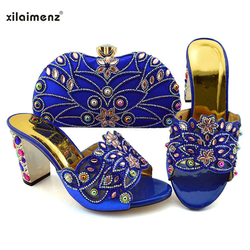 Latest 2019 Shoes and Bags Set New Style Italian Matching Shoes and Bags African Women Wedding