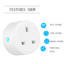 exuanfa Wifi smart socket British standard alexa mobile phone timer switch remote control home