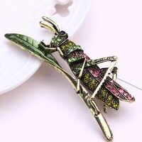 Insetto brooch dei monili del metallo foglia carino pins e spille per le donne di strass pin del risvolto degli uomini brosche