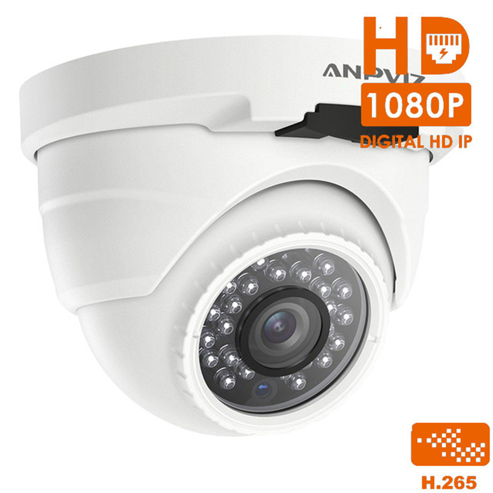 HD 1080P Indoor Dome IP Camera PoE H.265 2MP Night Vision Security Video Surveillance Camera Onvif Outdoor Waterproof hd onvif 5mp 2mp h 265 ip poe security dome camera outdoor waterproof video surveillance cameras network camera ir night vasion