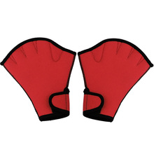 1 Pair Swimming Gloves Aquatic Fitness Water Resistance Aqua Fit Paddle Training Fingerless Gloves ASD88