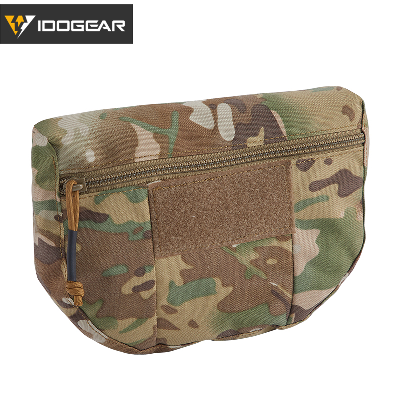 IDOGEAR Tactical Armor Carrier Drop Pouch AVS JPC CPC Pouch Waist Bag EDC Combat Army Tactical Waist Pouch  Multicam 3520