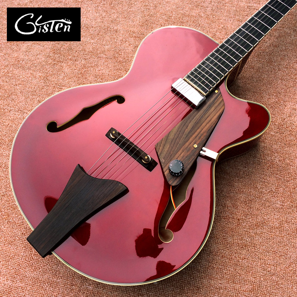 цена на New high quality Manufacturers make the best jazz hollow electric guitar, A piece of pickups Jazz electric guitar, free shipping