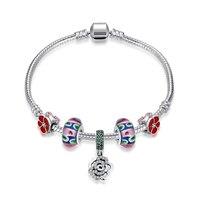 Personality Fashion 925 Sterling Silver Fine Ball Rose Bracelets Snake Chain Luxury Jewelry Women Wedding Party