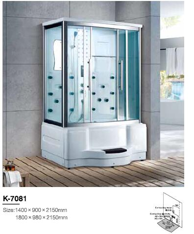 Back To Search Resultshome Improvement Bathroom Fixtures Sunny 1400x900x2150mm Luxury Bathroom Steam Shower Enclosure Computer Control Wet Sauna Room 7081k Latest Technology