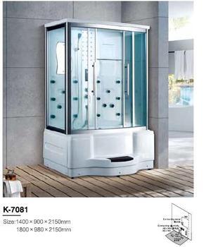 1400X900X2150mm cuarto de baño de lujo cabina de ducha de vapor ...