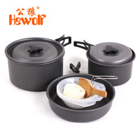 Hewolf 2 3 People Outdoor Camping Cooker Field Supplies Portable Cooking Utensils Hiking Cooking Picnic Bowl
