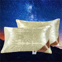LREA 1pc 48*74cm Silk pillow the family or hotel Protect the neck Fill in the full Comfortable sleep pillows for bedding