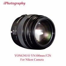 YONGNUO YN100mm F2N AF/MF Lens Large Aperture Standard Medium Telephoto Prime Lens Fixed F