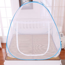 Hot Single Door Mosquito Net Four Seasons Home Bedroom Free Installation Bottomed Folding Mosquito Net With Zipper Bed Canopy(China)