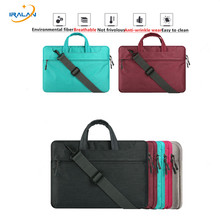 Hot Canvas briefcase Laptop Bag Sleeve Case for MacBook Air Pro Retina 12 13 15 Notebook crossbody messenger 14 15.6 inch Bag