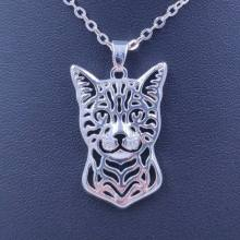 2019 Cute Bengal Cat Necklace Animal Pendant Gold Silver Plated Jewelry Gift For Women Male Female Girls Ladies Kids Boys NT005(China)