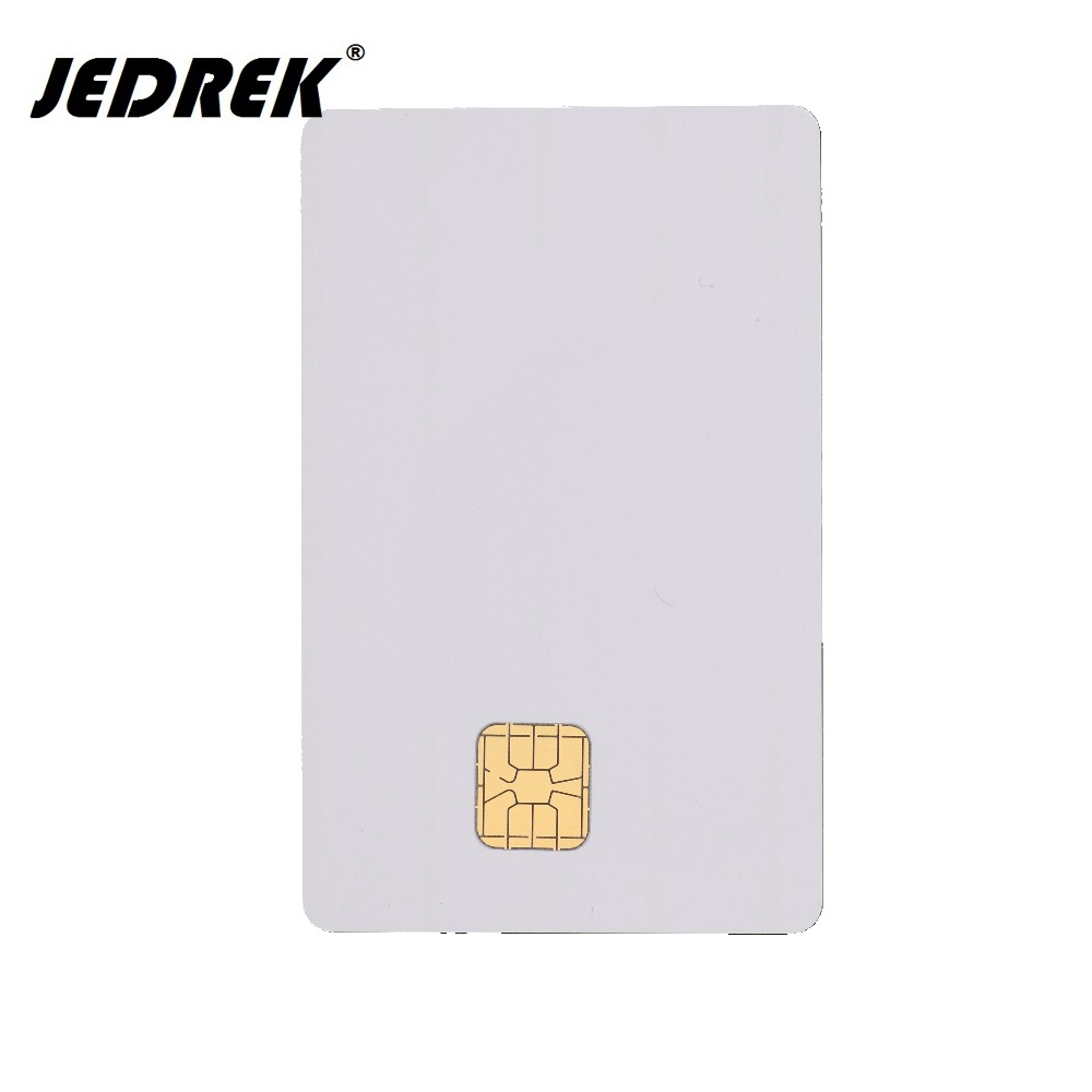 10pcs/lot white PVC Blank card SLE 4428 chip contact IC smart Card 20pcs lot contact sle4428 chip gold card with magnetic stripe pvc blank smart card purchase card 1k memory free shipping