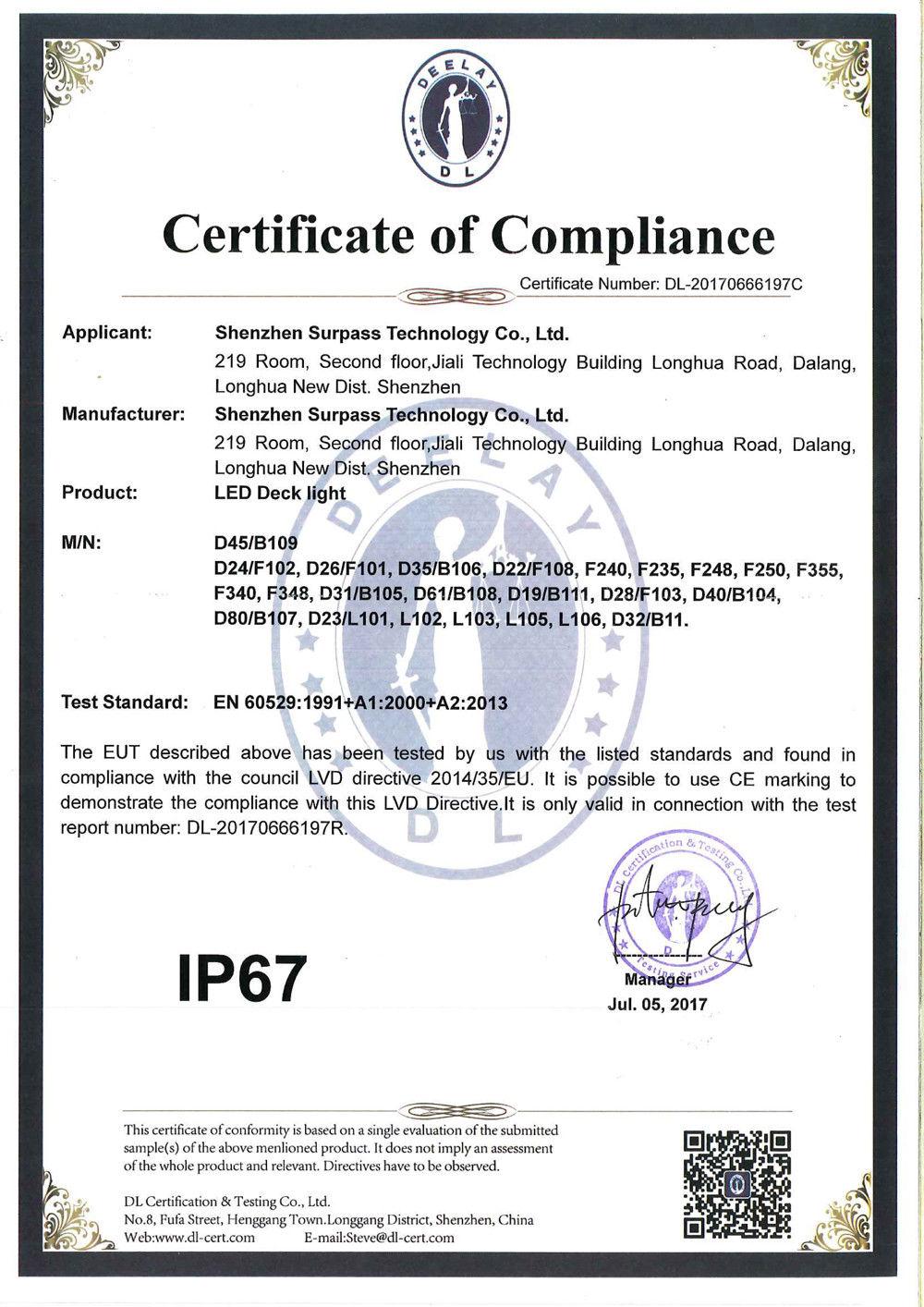 IP67 Recesso Cozinha LEVOU Ferroviário Deck luzes passo