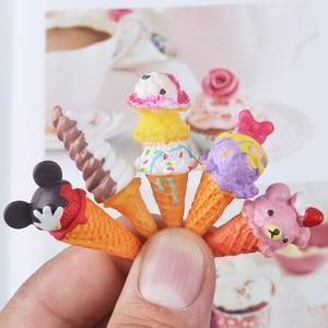 Image 1 - 8pcs Doll Re ment Miniature Pretend Toys Mini Resin Ice cream Play food for blyth bjd barbies Dollhouse Kitchen toys