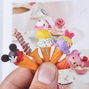 Image 1 - Boneca re mento em miniatura, 8 peças, brinquedos de fingir, mini, resina, sorvete, jogar, comida para blyth bjd barbies casa de bonecas brinquedos de cozinha