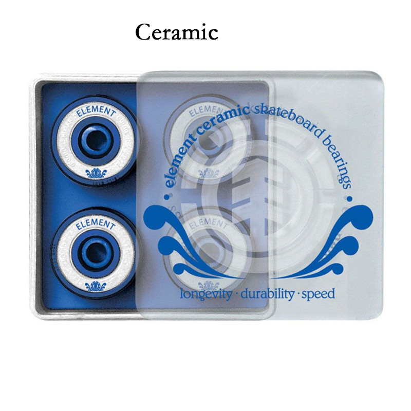 Free Shipping ORIGINAL Element Ceramic Skateboard Bearings ABEC-3 Bearing For Skate Board Scooter Chrom Steel Ball Bearings