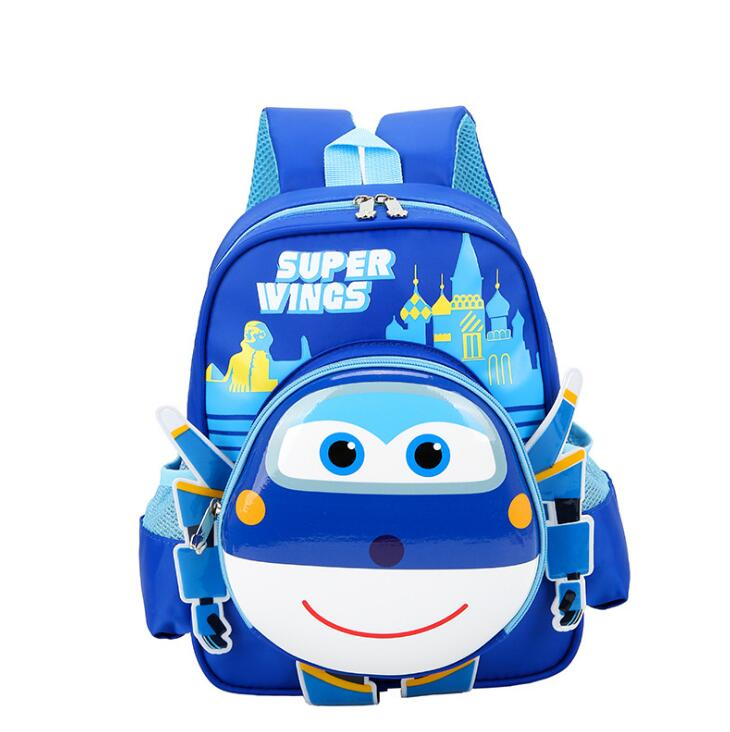 3D Cartoon Orthopedic Children Backpack Kids School Bag Super Wings Schoolbag For Boys And Girls Primary School Bookbags