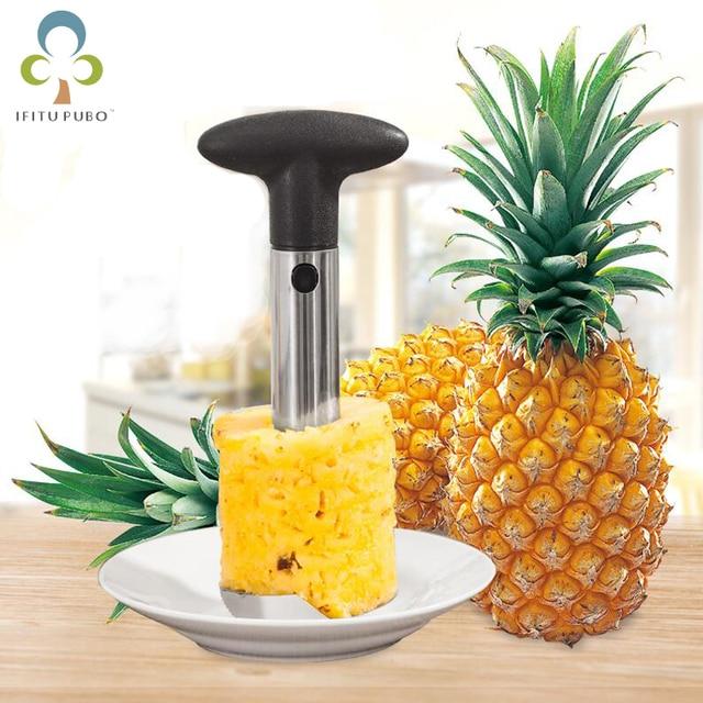 $ US $1.97 Knife Kitchen Tool Stainless Fruit Pineapple Corer Slicer Peeler Cutter Parer Best Selling Pineapple Slicers GYH