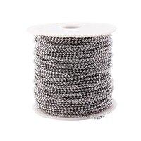 Нержавеющаясталь мяч цепи Spool с разъемом 100 м наиболее популярные Размеры 2,4 мм для ювелирных изделий Цепочки и ожерелья
