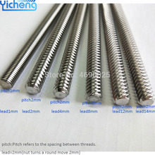 Yicheng Lead Screw 8mm for CNC Trapezoidal T8 Screws in 3D Printer Parts Z Axis 2 4 8 10 12mm 300 400mm