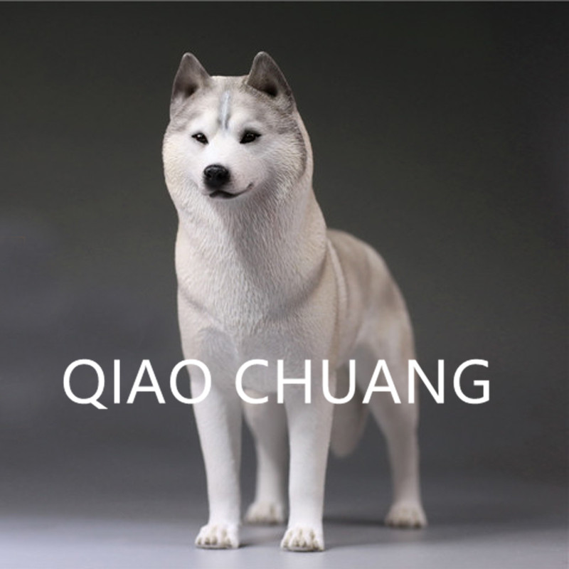 Simulation Animal Static Model Hound Group Siberian Husky Sled Dog Colophony Crafts Home Furnishing Articles G920