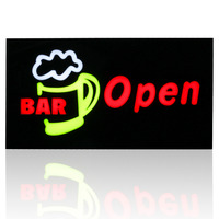 2015 NEW Waterproof BAR LED OPEN SIGN BOARD Led Epoxy Resin Sign On Off Switch Bright