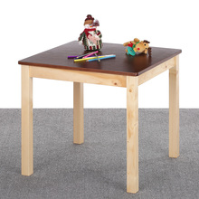 iKayaa Cute Wooden Kids Table Solid Pine Wood Square Toddler Children Activity Table for Kid Playing Learning(China)