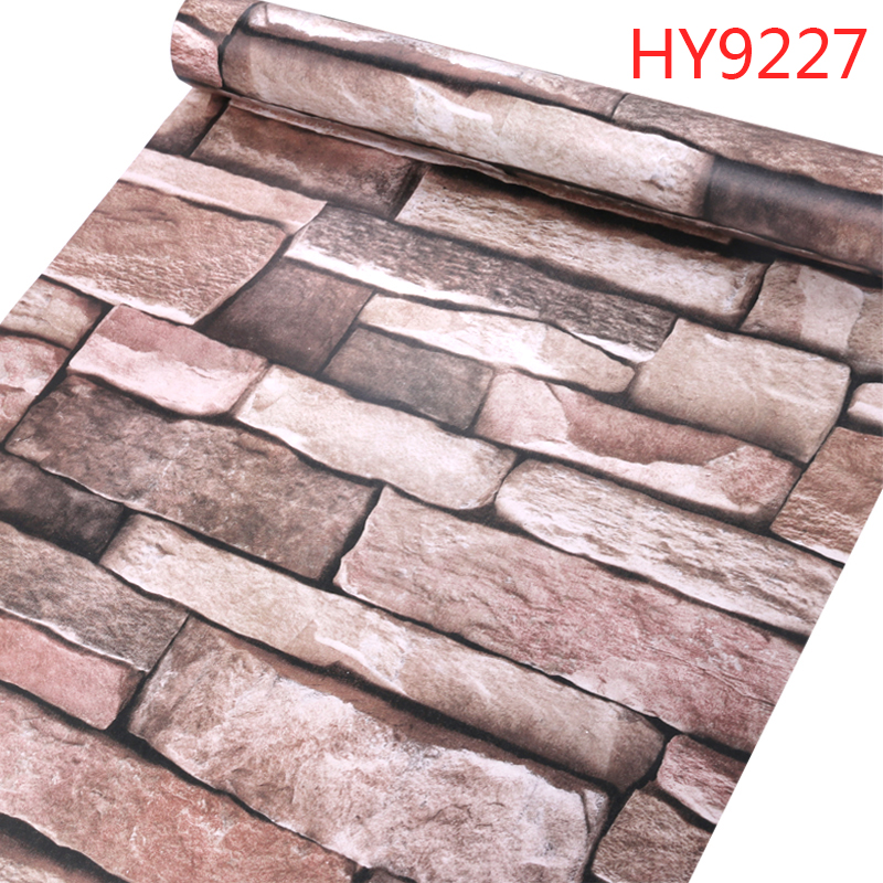 peel and stick self adhesive texture vintage brick parrten vinyl wallpaper 3D stone roll for inter house wall room decor