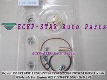 Turbo Repair Kit rebuild GT1749V 721164 17201-27030 17201-27040 Turbocharger For TOYOTA RAV4 Avensis Picnic Previa 1CD-FTV 2.0L
