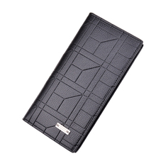 Vintage Men's Long Wallet Fashion Casual Student Male Leather Long Purse Card Ca