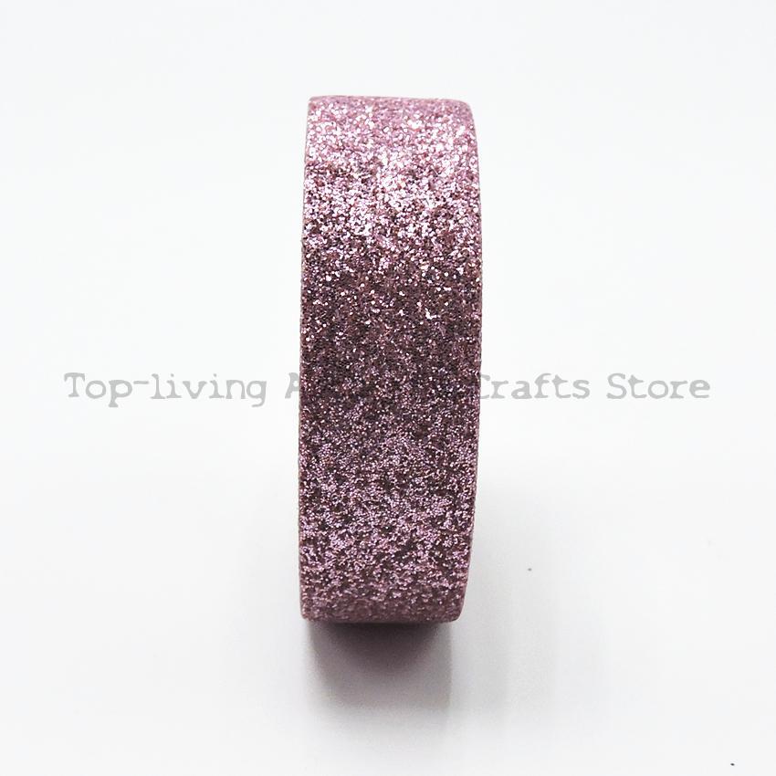 Pink Giltter Washi Tape 5M Length Kawaii Scrapbooking Tools Japanese Stationery  Quality Scrapbook