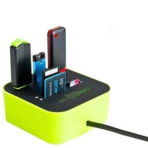 Image 2 - Twobro USB Hub 2,0 3 Ports TF Micro SD Kartenleser Slot USB Combo Multi Alle In Einem USB Splitter kabel Für Laptop Macbook